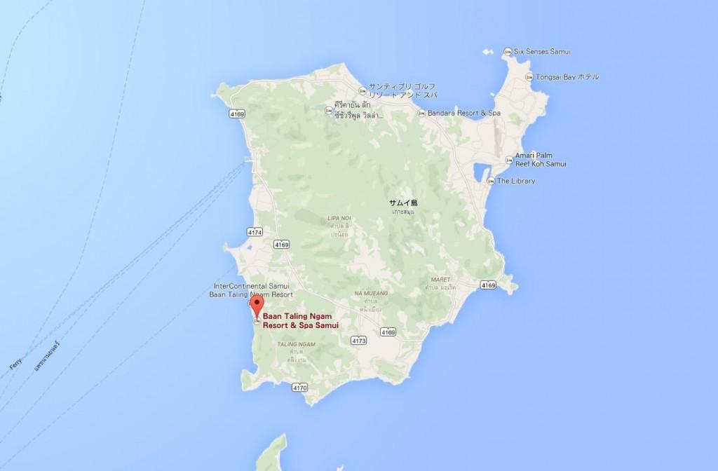 サムイ地図