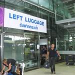 スワンナプーム国際空港の2か所の荷物一時預かり所(LEFT LUGGAGE)