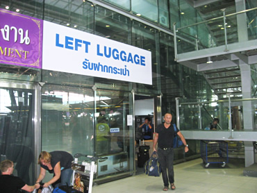 スワンナプーム空港4階 手荷物一時預かり所写真